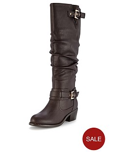 shoe-box-tegan-double-buckle-mid-heel-calf-boots