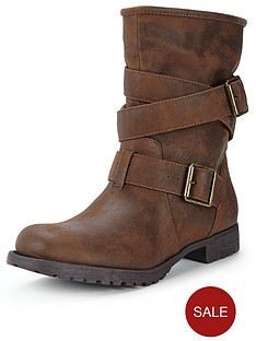shoe-box-sonia-strappy-buckle-flat-casual-boots-brown