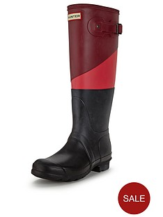 hunter-original-asymmetric-colour-block-wellies