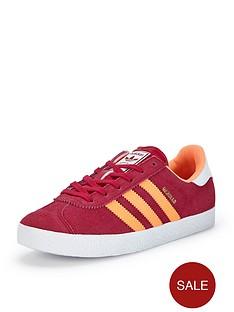 adidas-originals-gazelle-junior-girls-trainers-pinkorange