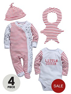 ladybird-baby-unisex-4-piece-gift-set-stars-and-stripe-set