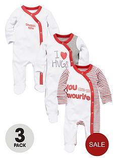 ladybird-baby-unisex-sleepsuits-i-love-hugs-3-pack