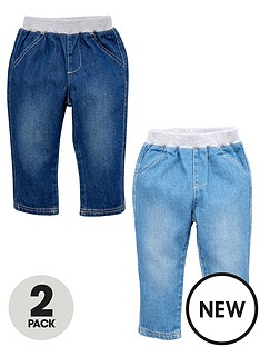 ladybird-baby-boys-jeans-2-pack--with-monkey-badges