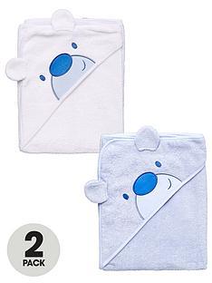 ladybird-baby-boys-bear-appliqueacute-hooded-towels-2-pack