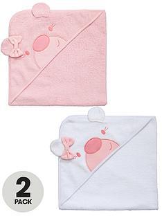 ladybird-baby-girls-hooded-towels-2-pack