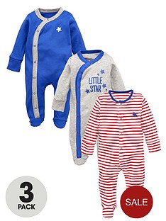 ladybird-baby-boys-little-star-and-stripe-sleepsuits-3-pack