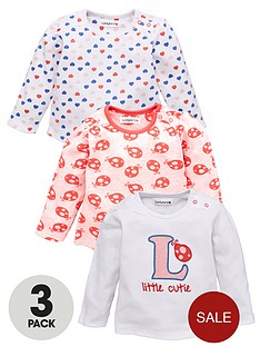 ladybird-baby-girls-long-sleeve-t-shirts-ladybird-and-hearts-3-pack