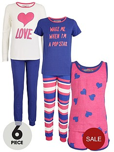 freespirit-girls-6-piece-heart-print-pyjamas-set