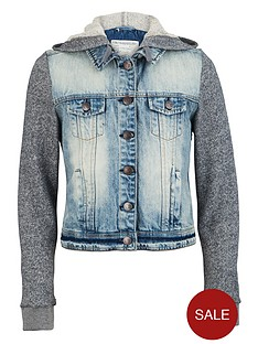 freespirit-girls-denim-jacket-with-marl-sleeves