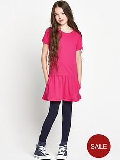 freespirit-girls-pink-drop-waist-dress