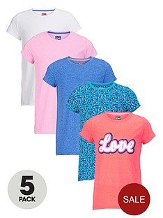 freespirit-girls-everyday-essentials-short-sleeve-tops-5-pack