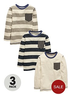 ladybird-boys-slub-stripe-tees-3-pack