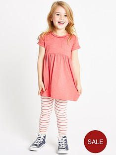 ladybird-girls-jersey-dress-and-stripe-leggings-set