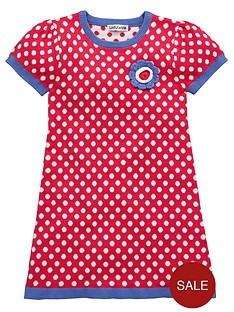 ladybird-girls-spot-knitted-dress
