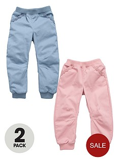 ladybird-girls-twill-cuff-trousers-2-pack