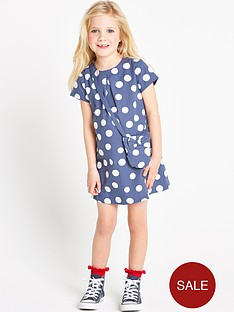 ladybird-girls-spot-shift-dress-with-bag