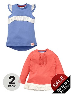 ladybird-girls-broderie-trim-t-shirts-2-pack