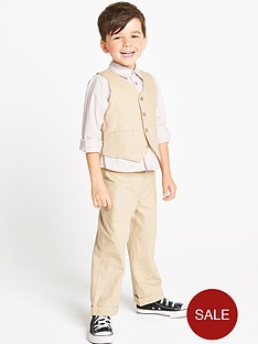 ladybird-boys-3-piece-beige-linen-set