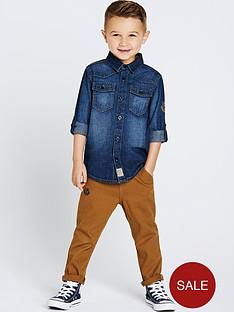 ladybird-boys-denim-shirt-and-chinos-set