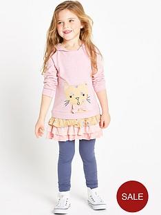 ladybird-girls-cat-hooded-dress