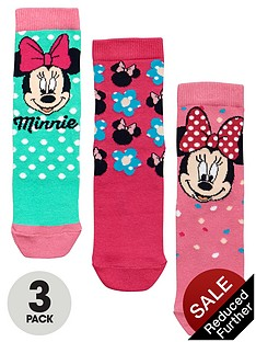 minnie-mouse-girls-socks-3-pack