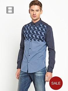 ben-sherman-mens-geo-print-long-sleeved-shirt
