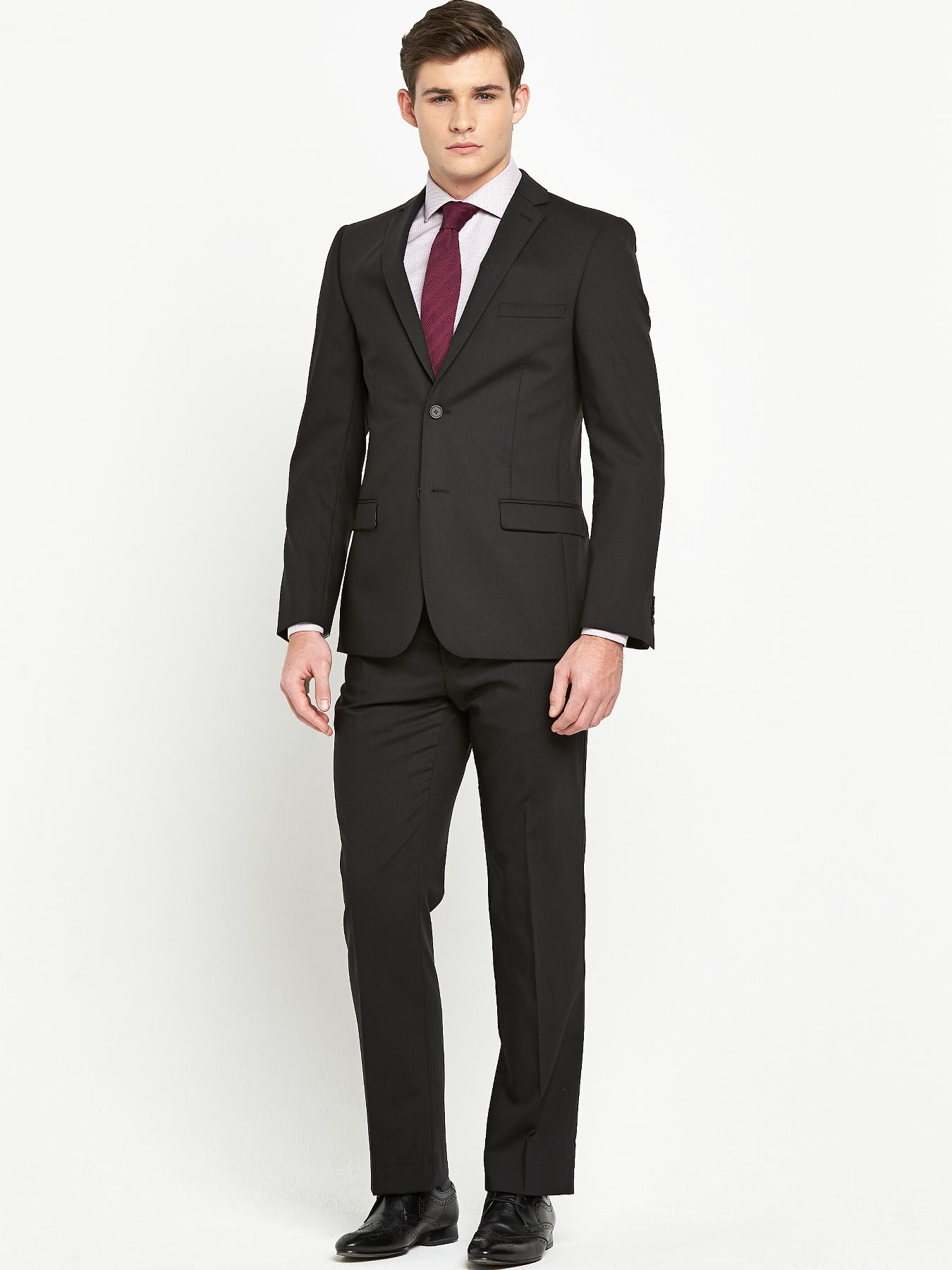Mens No Ordinary Joe 2 Piece Suit - Black, Black