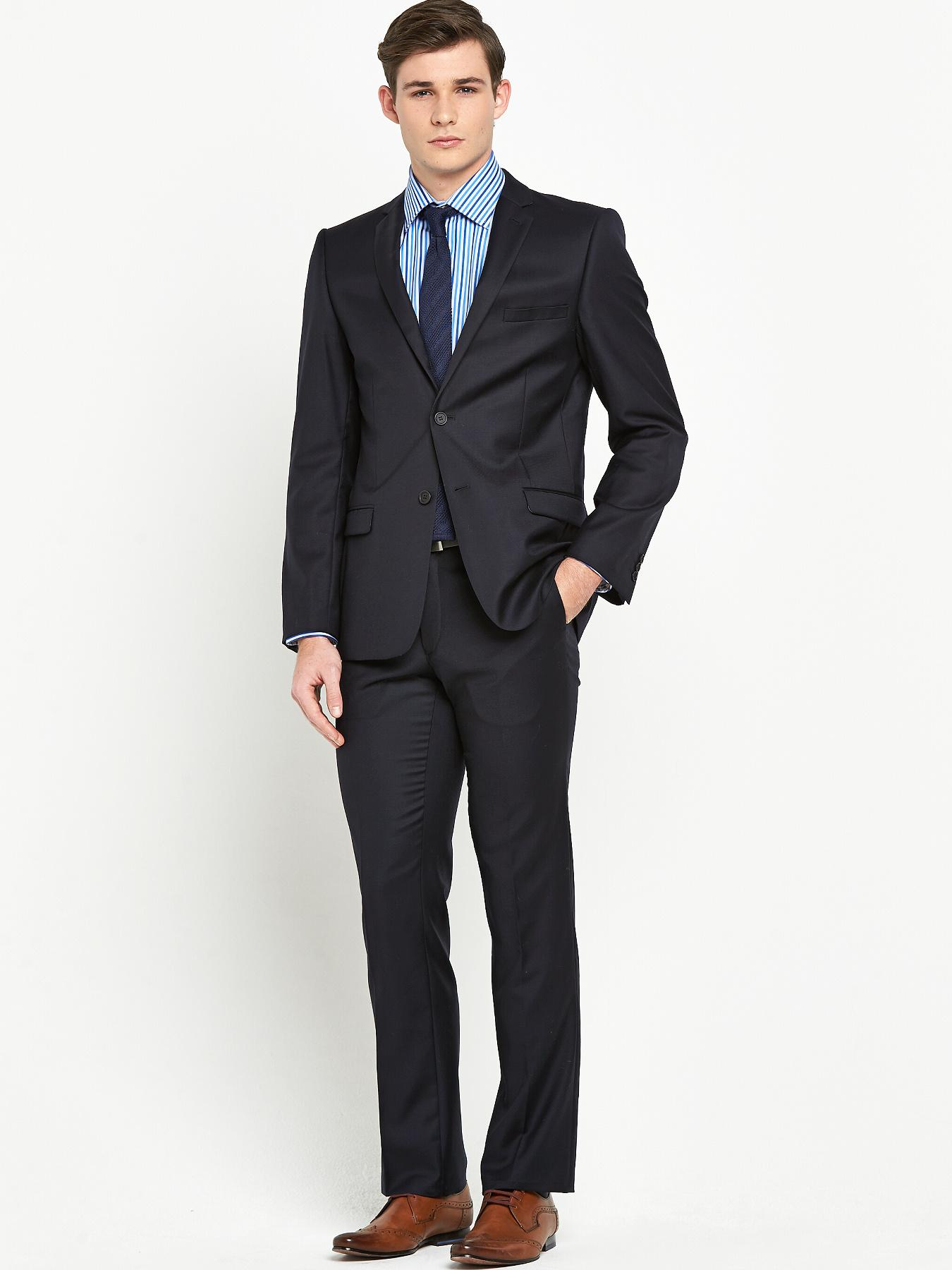 Mens No Ordinary Joe 2 Piece Suit - Navy, Navy