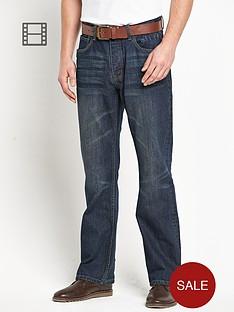 goodsouls-mens-belted-loose-fit-dark-vintage-wash-jeans