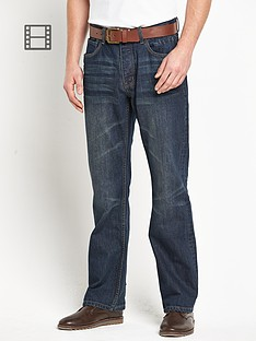 goodsouls-mens-belted-loose-fit-dark-vintage-wash-jeans