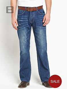 goodsouls-mens-belted-loose-fit-mid-blue-wash-jeans