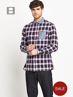 goodsouls-mens-long-sleeve-penny-collar-check-shirt