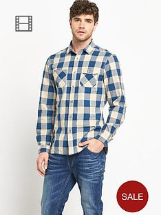 goodsouls-mens-long-sleeve-blue-brushed-cotton-check-shirt