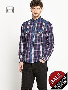 goodsouls-mens-long-sleeve-denim-laundered-check-shirt