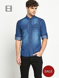 goodsouls-mens-long-sleeve-double-pocket-denim-shirt
