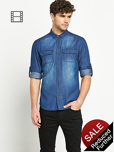 goodsouls-mens-long-sleeve-double-pocket-denim-shirt