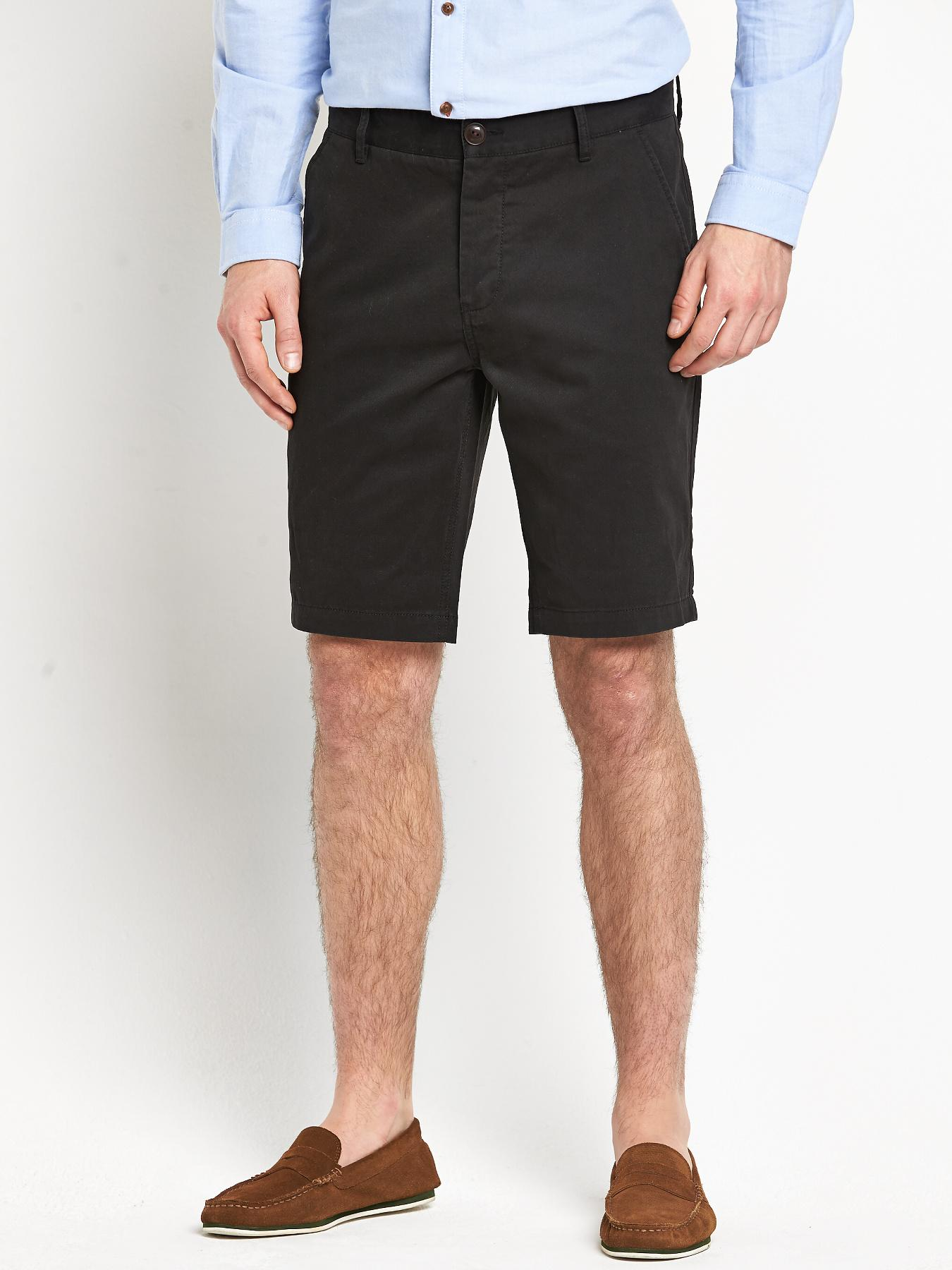 Mens Chino Shorts, Black at Littlewoods