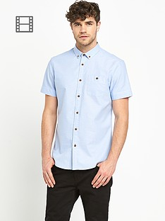goodsouls-mens-short-sleeve-blue-oxford-shirt