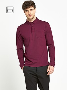 goodsouls-mens-long-sleeve-slim-fit-jersey-polo-top