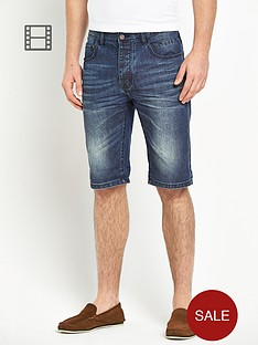 goodsouls-mens-denim-dark-vintage-turn-up-shorts