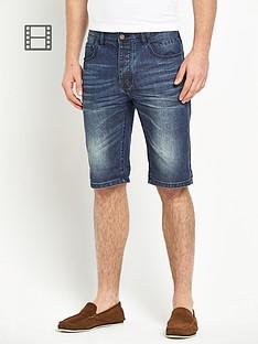 goodsouls-mens-denim-dark-vintage-turn-up-shorts