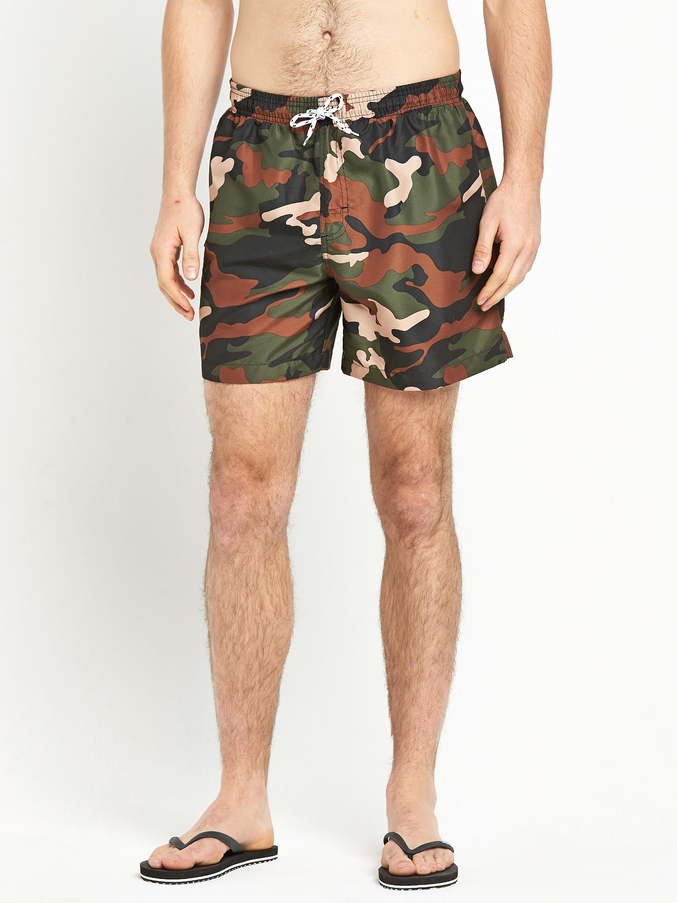 Mens Cargo Swimshorts at Littlewoods