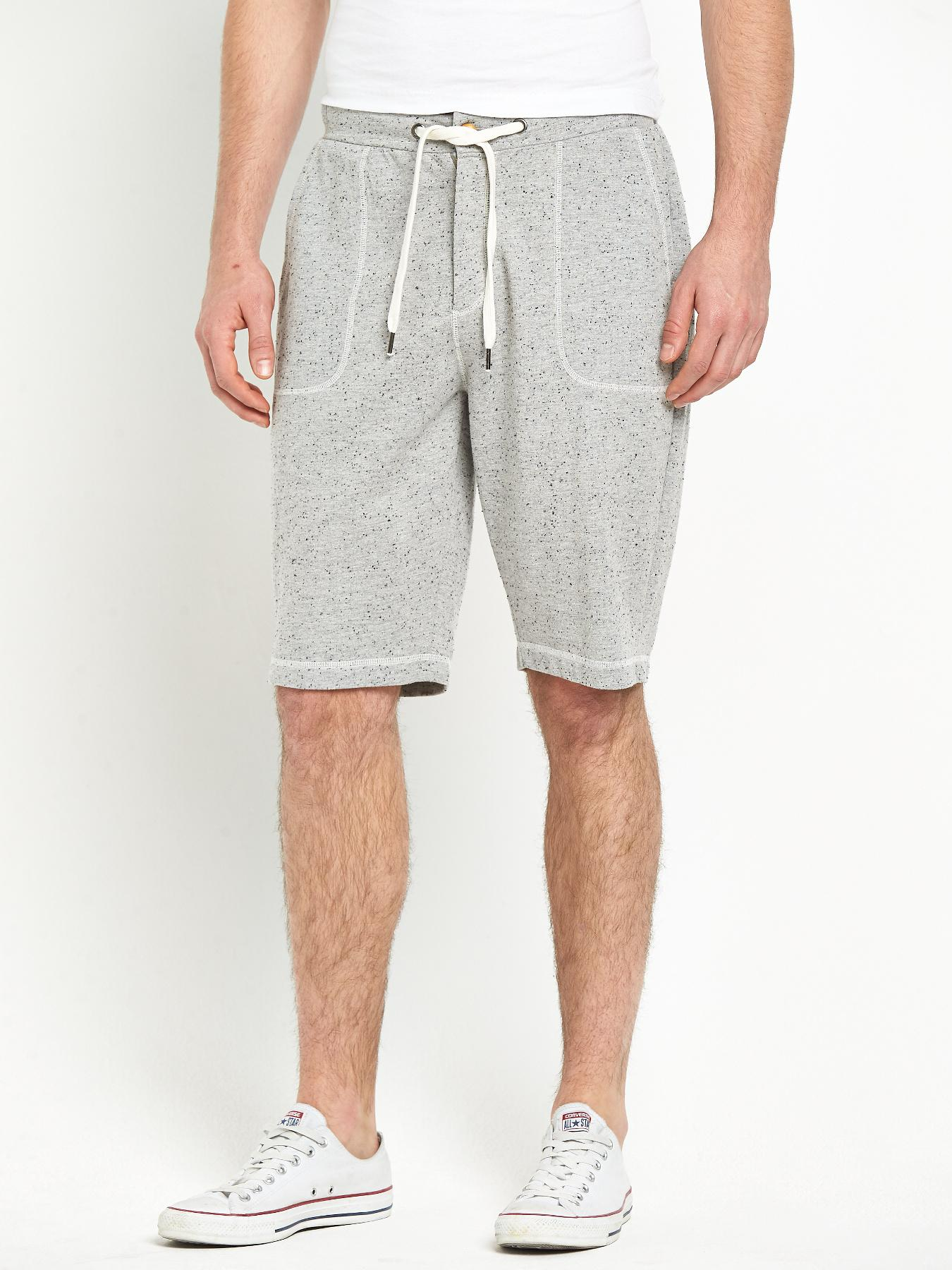 Mens Fleece Jogger Shorts, Grey at Littlewoods