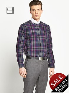 taylor-reece-mens-dark-check-shirt-contrast-collar