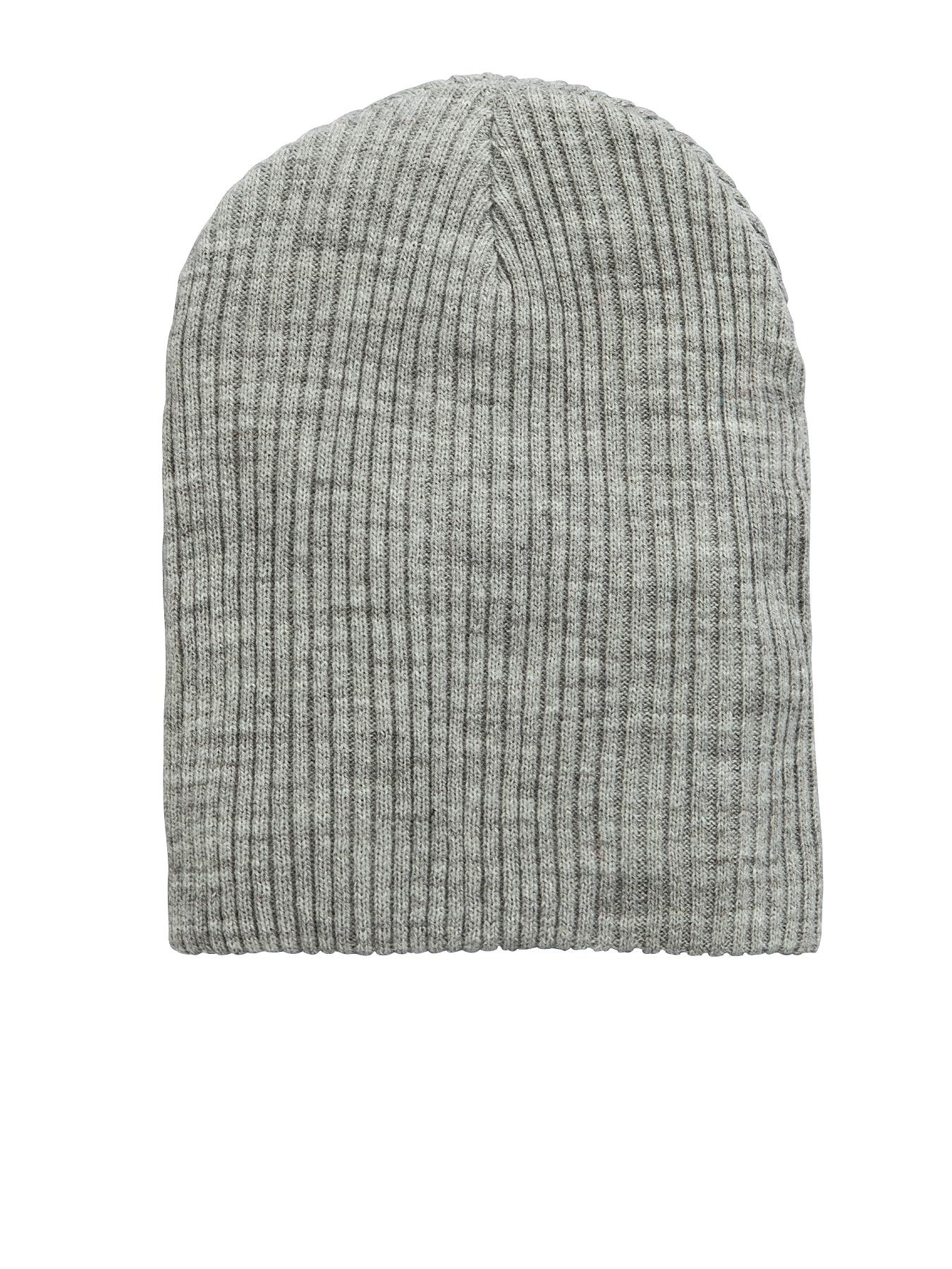 Mens Ribbed Slouch Beanie, Grey at Littlewoods