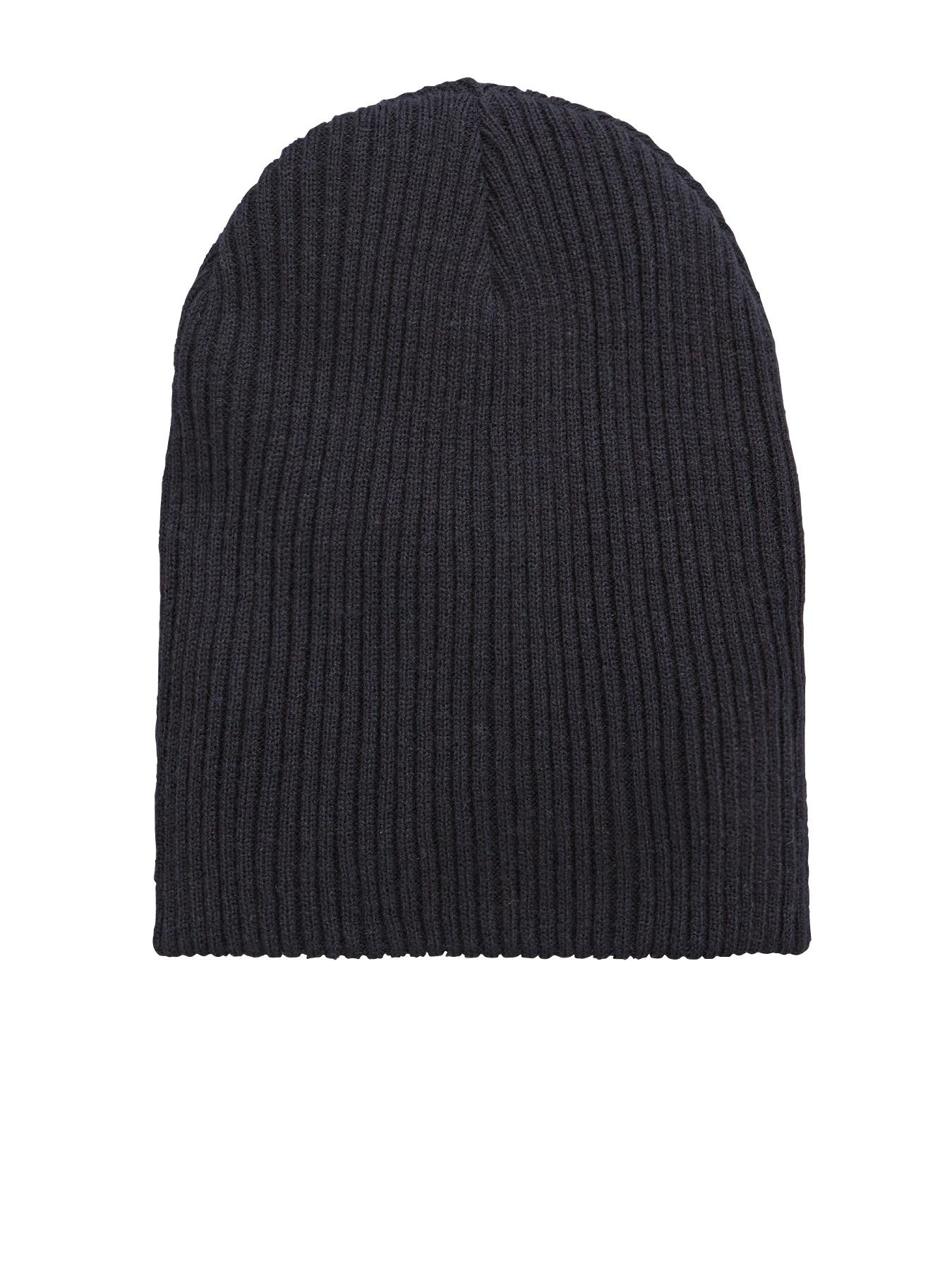 Mens Ribbed Slouch Beanie, Navy at Littlewoods