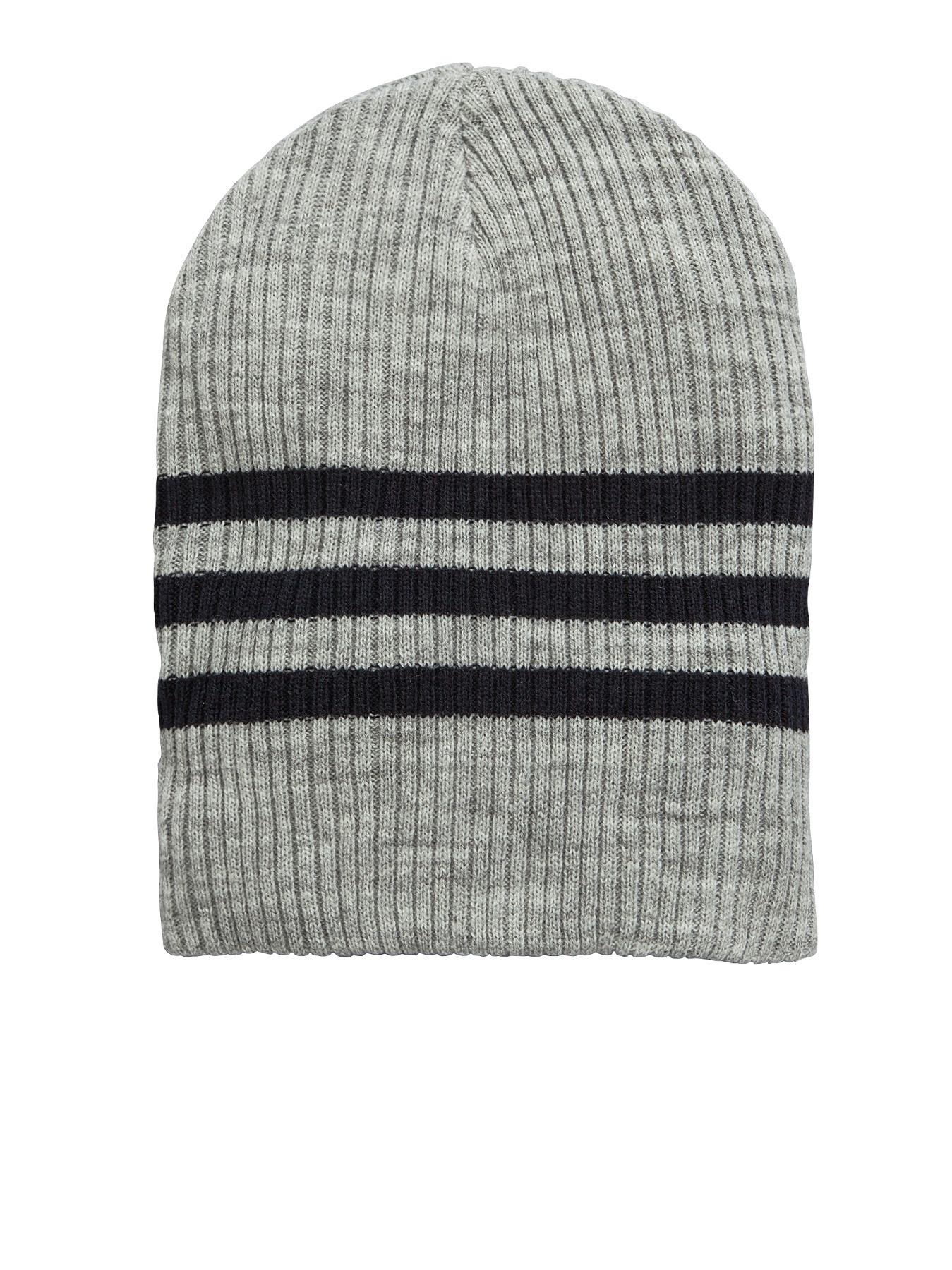 Mens Striped Ribbed Slouch Beanie, Blue at Littlewoods