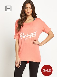 pineapple-slogan-oversize-t-shirt