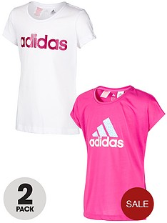 adidas-youth-girls-graphic-tees-2-pack