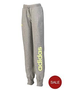 adidas-youth-girls-essentials-linear-fleece-pants